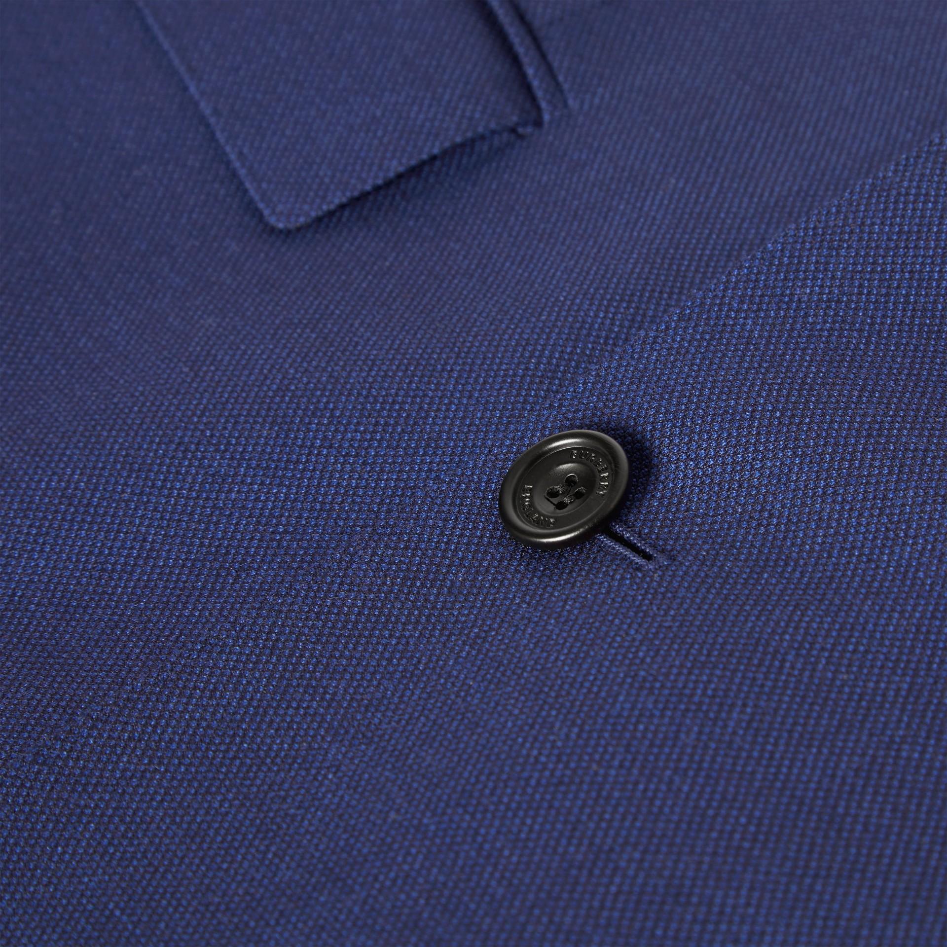 Классический пиджак из шерсти с узором «птичий глаз» (Насыщенный Темно-синий) - Для мужчин | Burberry - изображение 6