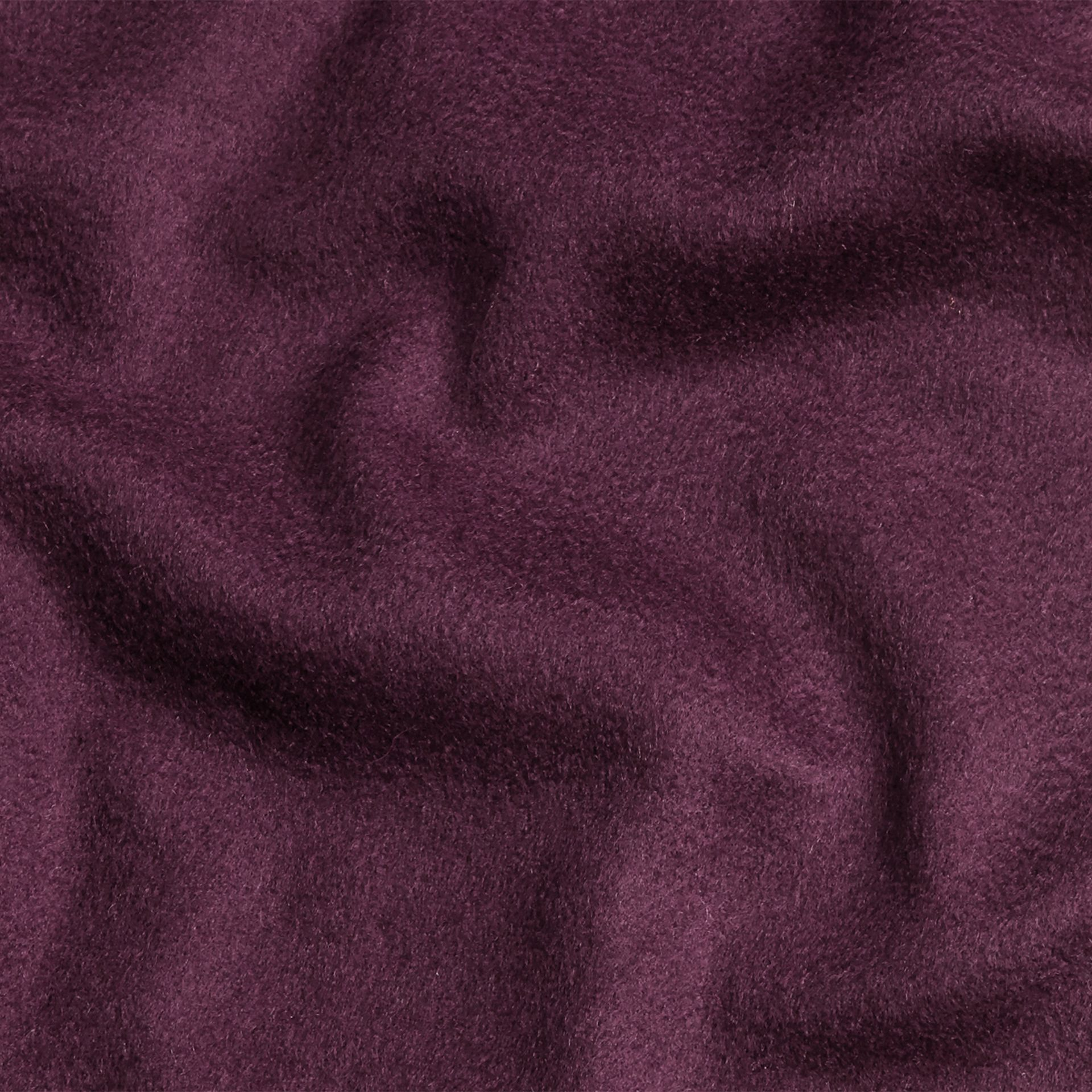 The Classic Cashmere Scarf in Aubergine - gallery image 5