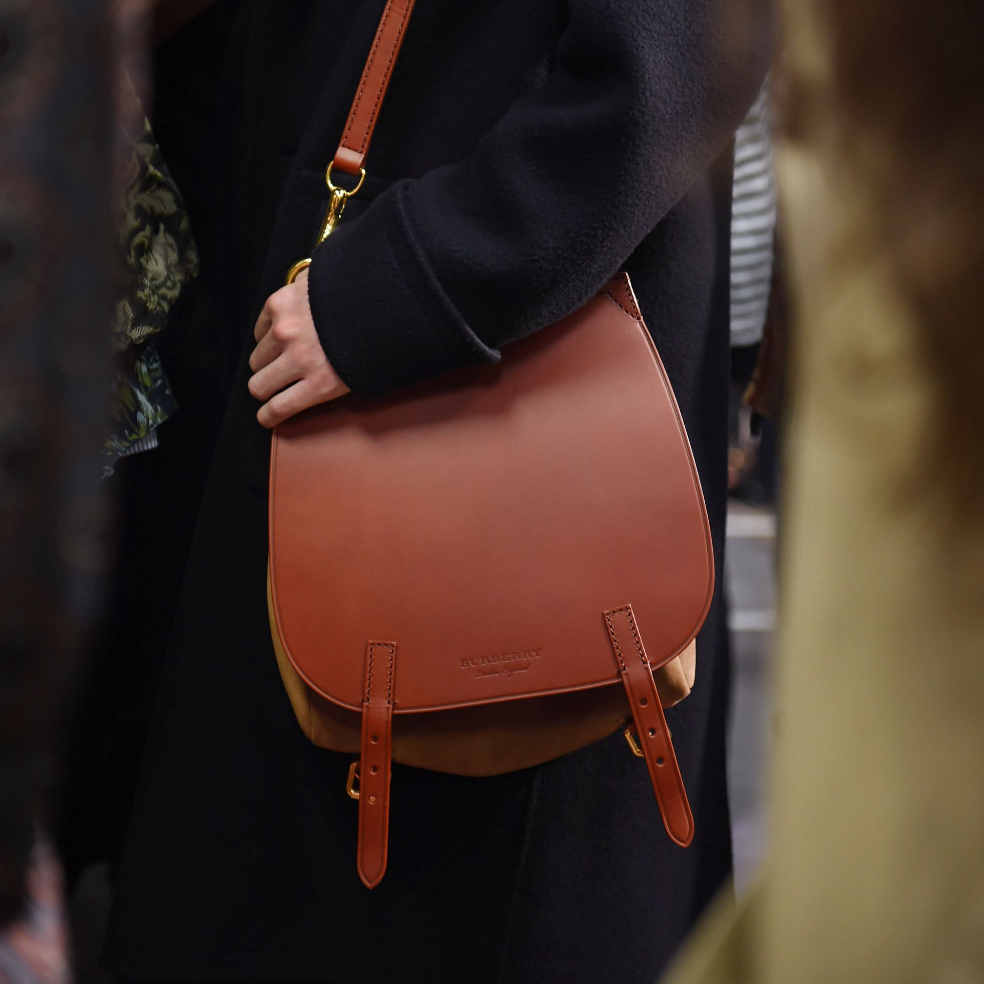 Tan The Small Bridle Bag in Leather and Suede - gallery image 9