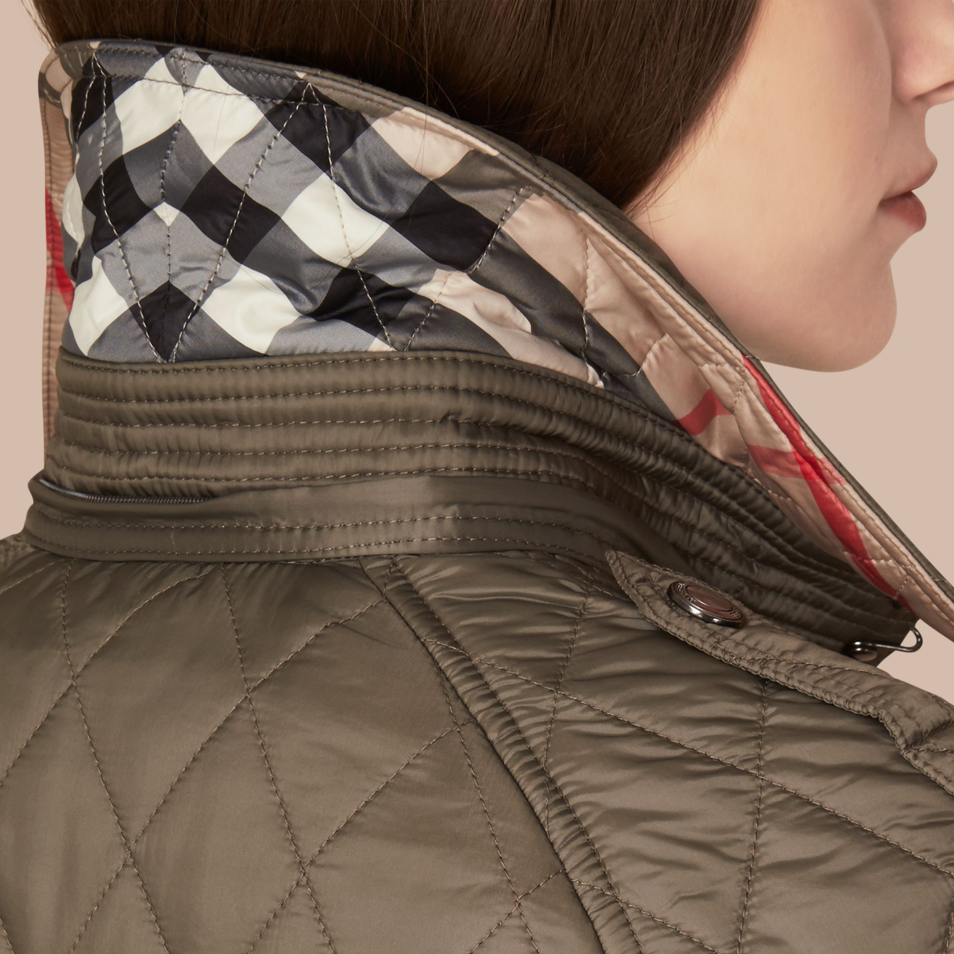 Diamond Quilted Coat - Women | Burberry Canada - gallery image 2