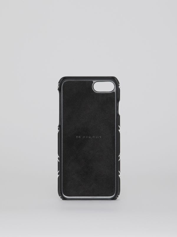 Link Print Leather iPhone 8 Case in Black | Burberry - cell image 2