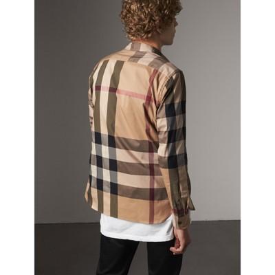 burberry plaid shirt men