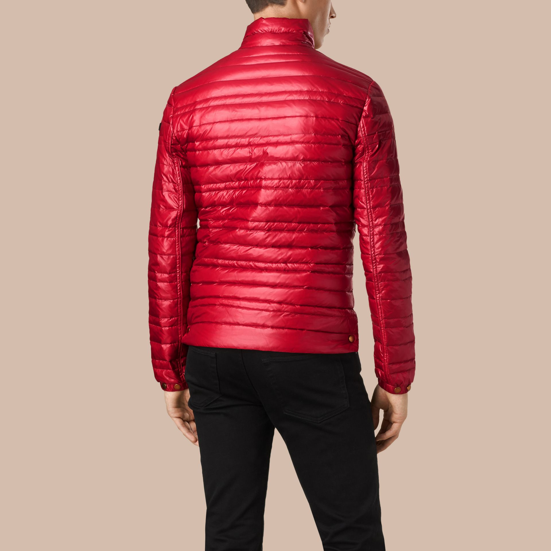 Lightweight Down-filled Jacket Parade Red - gallery image 3