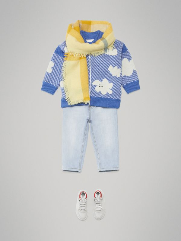 Relaxed Fit Stretch Denim Jeans in Light Blue - Children | Burberry Australia - cell image 3