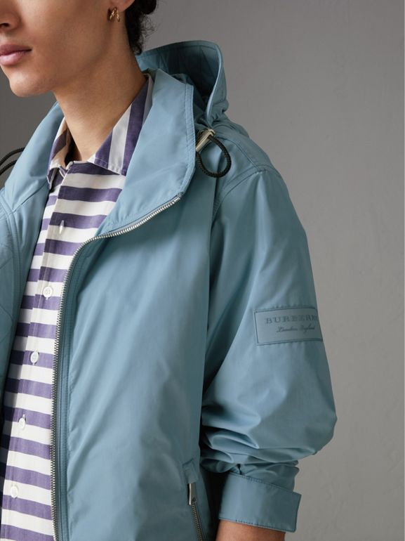 Packaway Hood Showerproof Jacket in Slate Blue - Men | Burberry United States - cell image 1