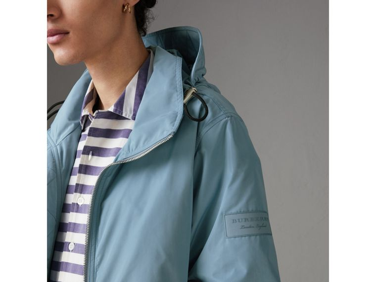 Packaway Hood Showerproof Jacket in Slate Blue - Men | Burberry - cell image 1