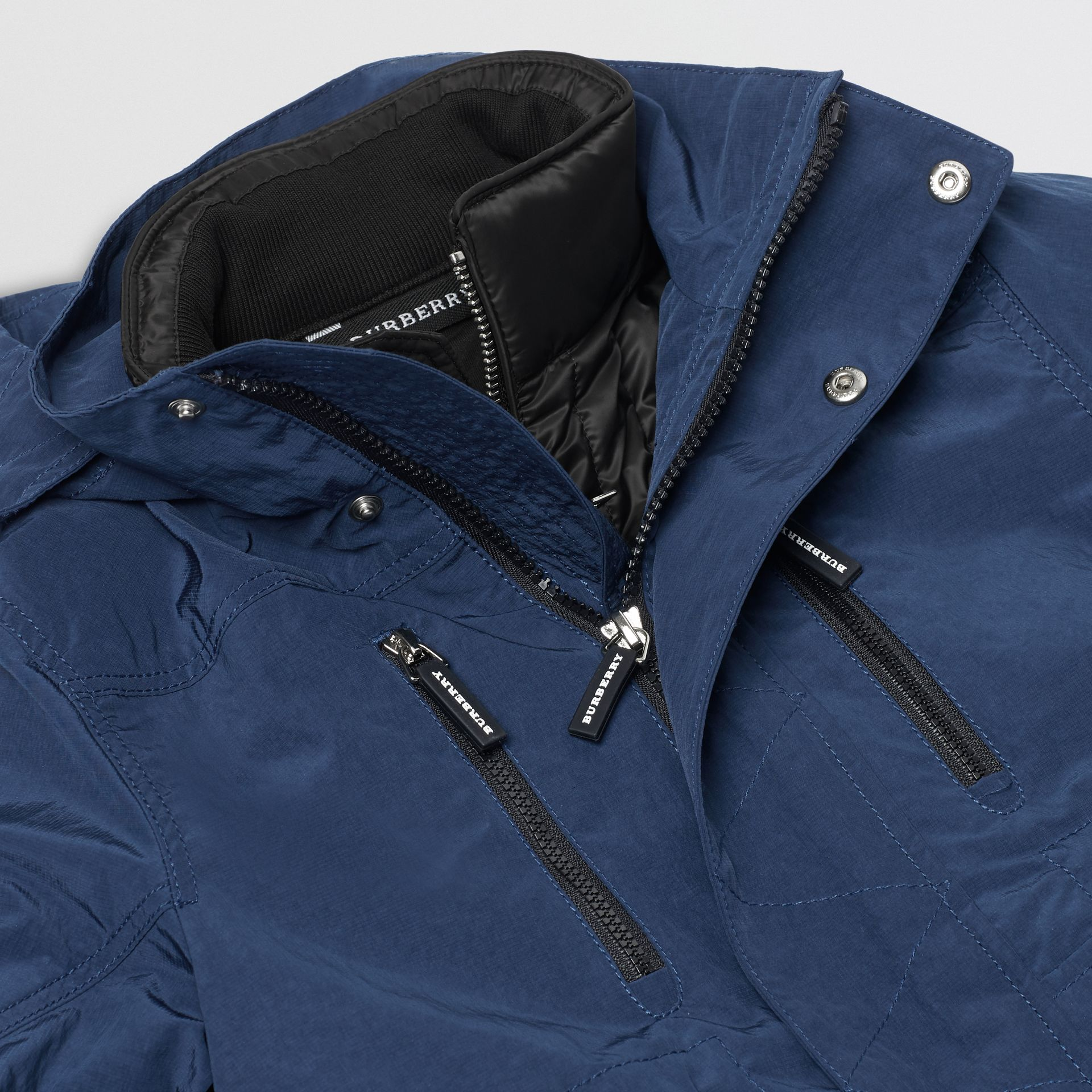 Hooded Parka with Down-filled Quilted Jacket in Bright Navy | Burberry Singapore - gallery image 1