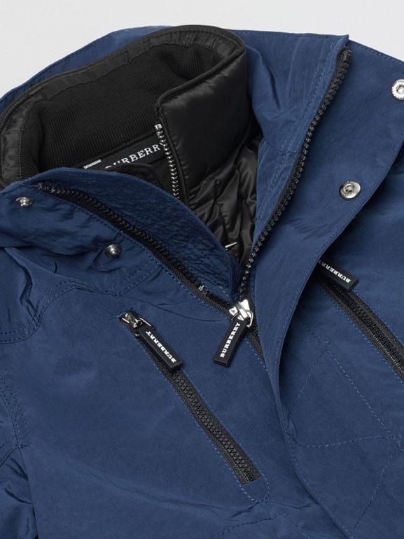 Hooded Parka with Down-filled Quilted Jacket in Bright Navy | Burberry - cell image 1