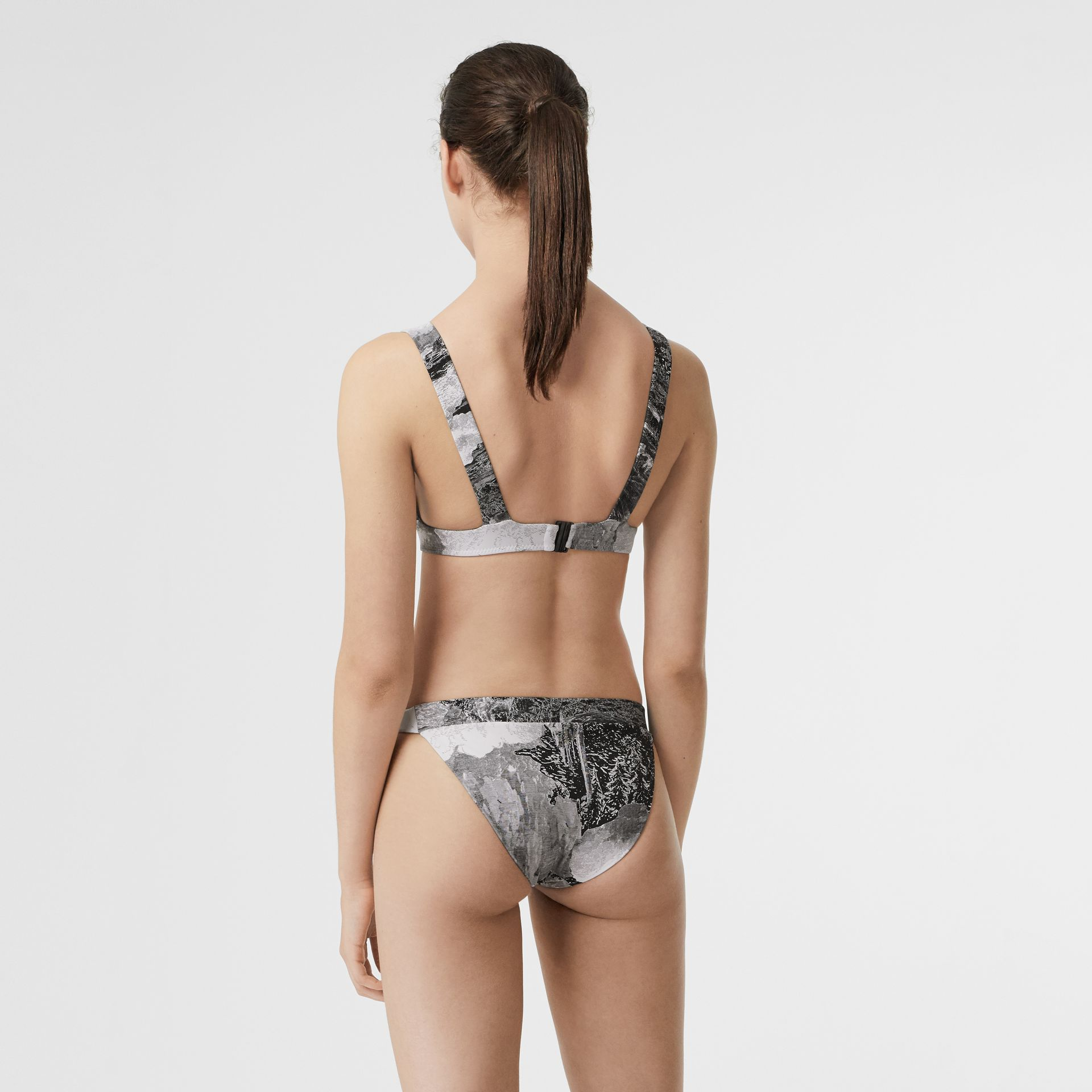 Dreamscape Print Bikini in Black - Women | Burberry Australia - gallery image 1