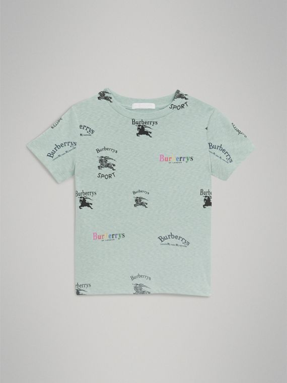 Archive Logo Print Jersey T-shirt in Mint