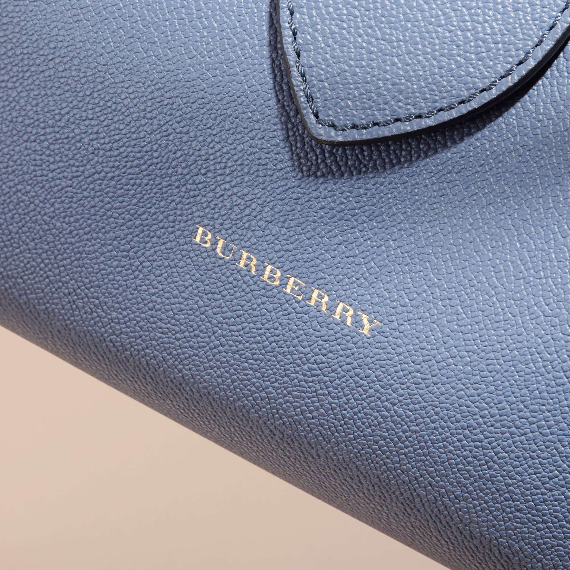 The Medium Buckle Tote in Grainy Leather in Steel Blue - gallery image 2