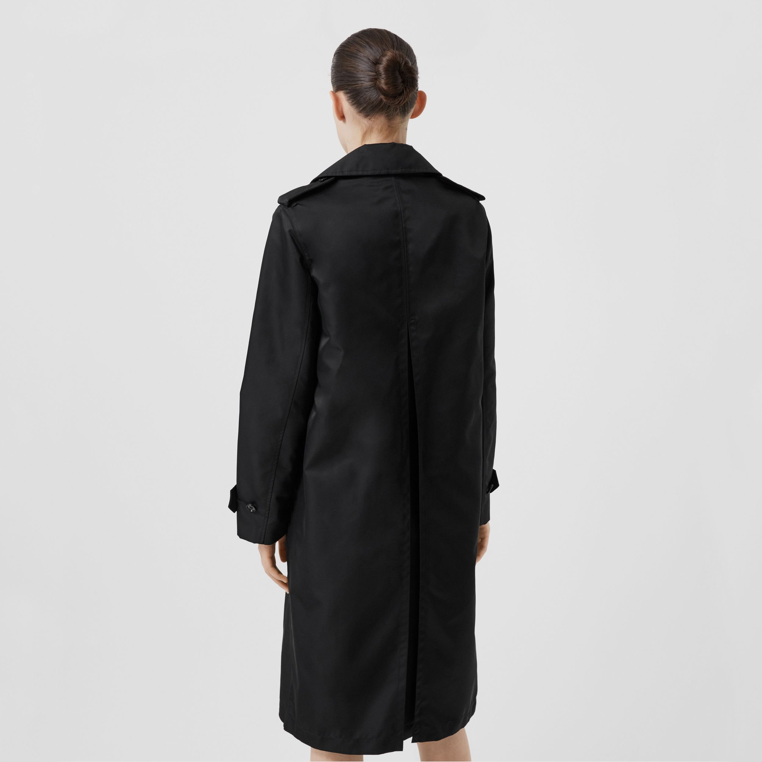 Logo Graphic Nylon Car Coat in Black - Women | Burberry - 3
