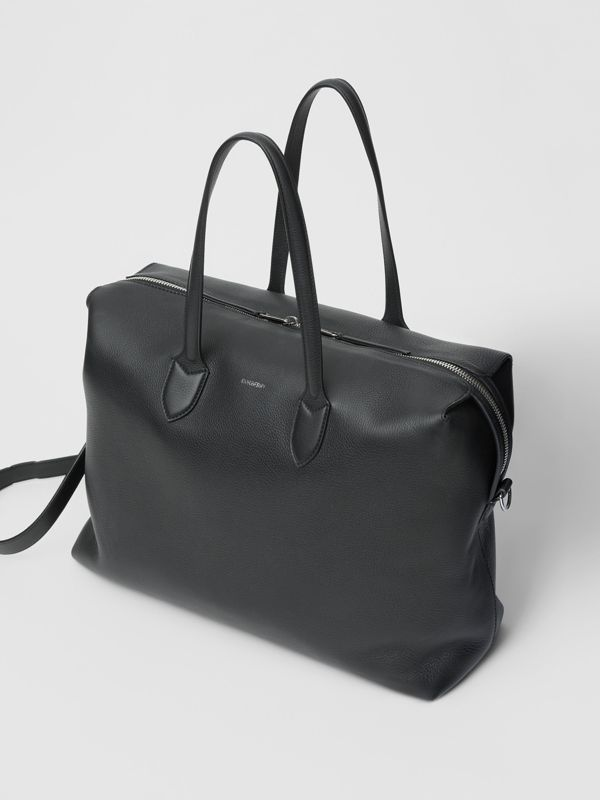Grainy Leather Holdall in Black - Men | Burberry - cell image 3