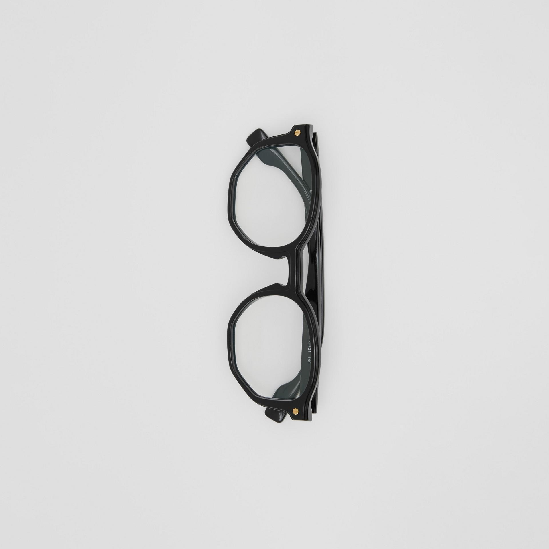 Geometric Optical Frames in Black - Women | Burberry United Kingdom - gallery image 2