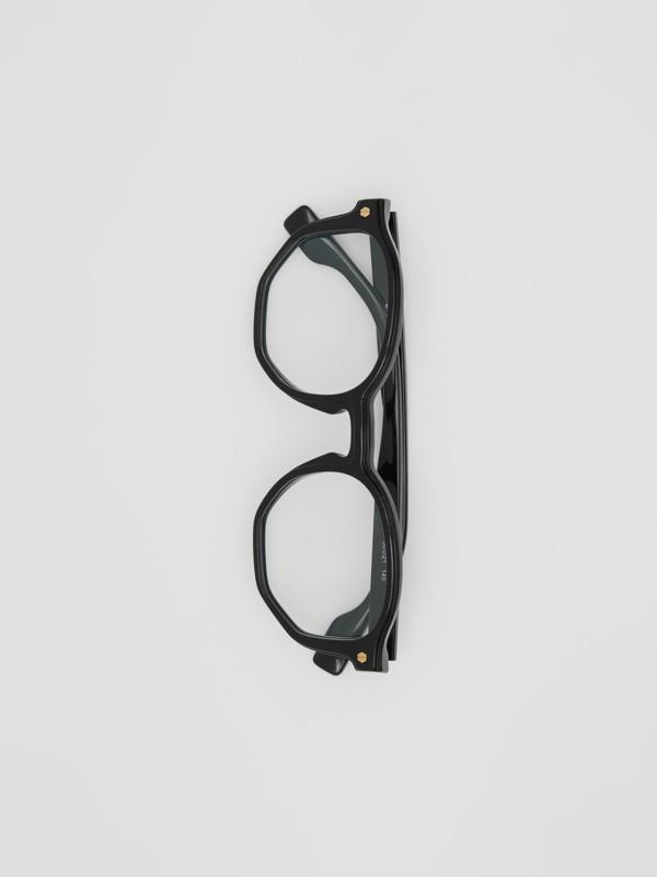 Geometric Optical Frames in Black - Women | Burberry United Kingdom - cell image 2