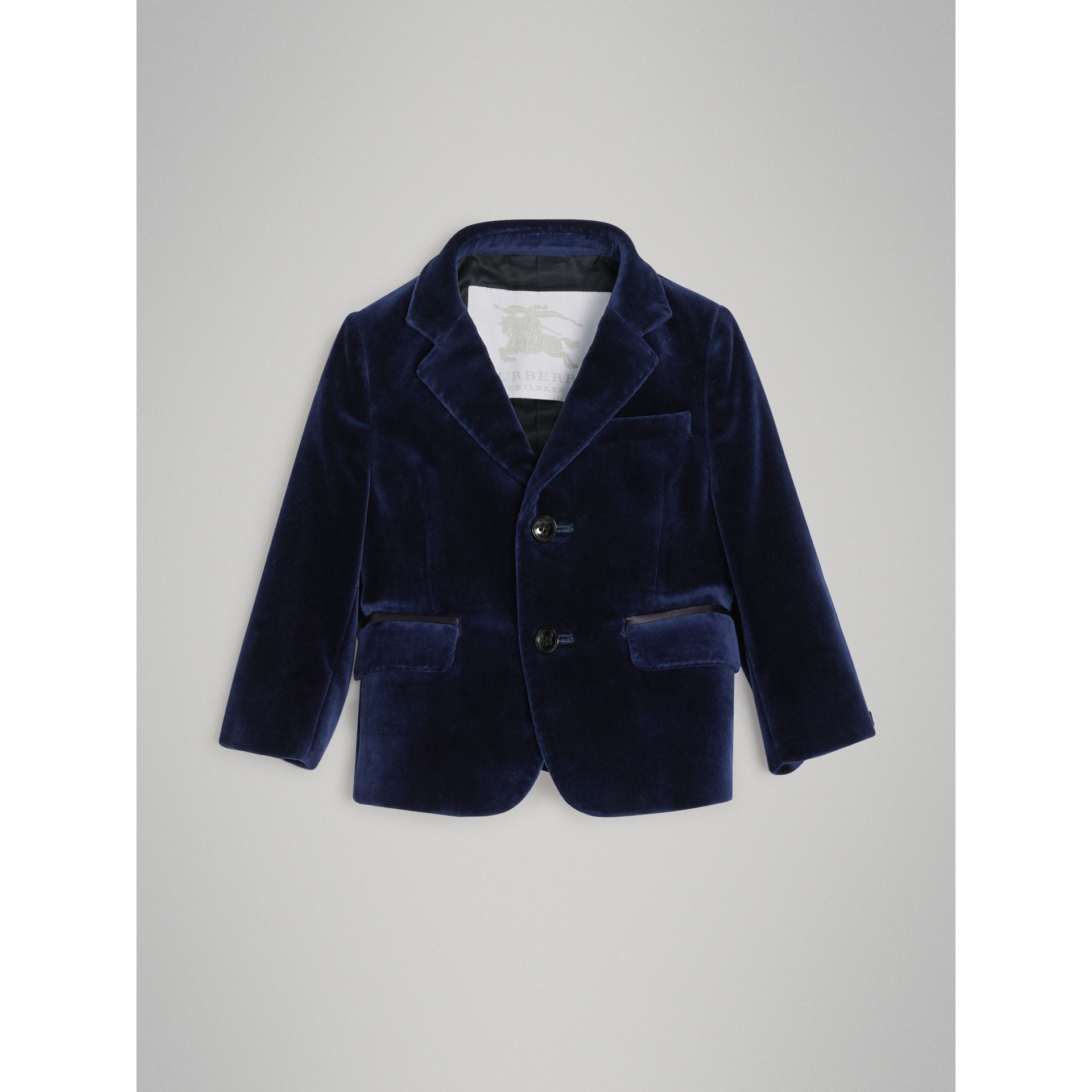 Velvet Tuxedo Jacket in Midnight Blue - Children | Burberry United States - gallery image 0