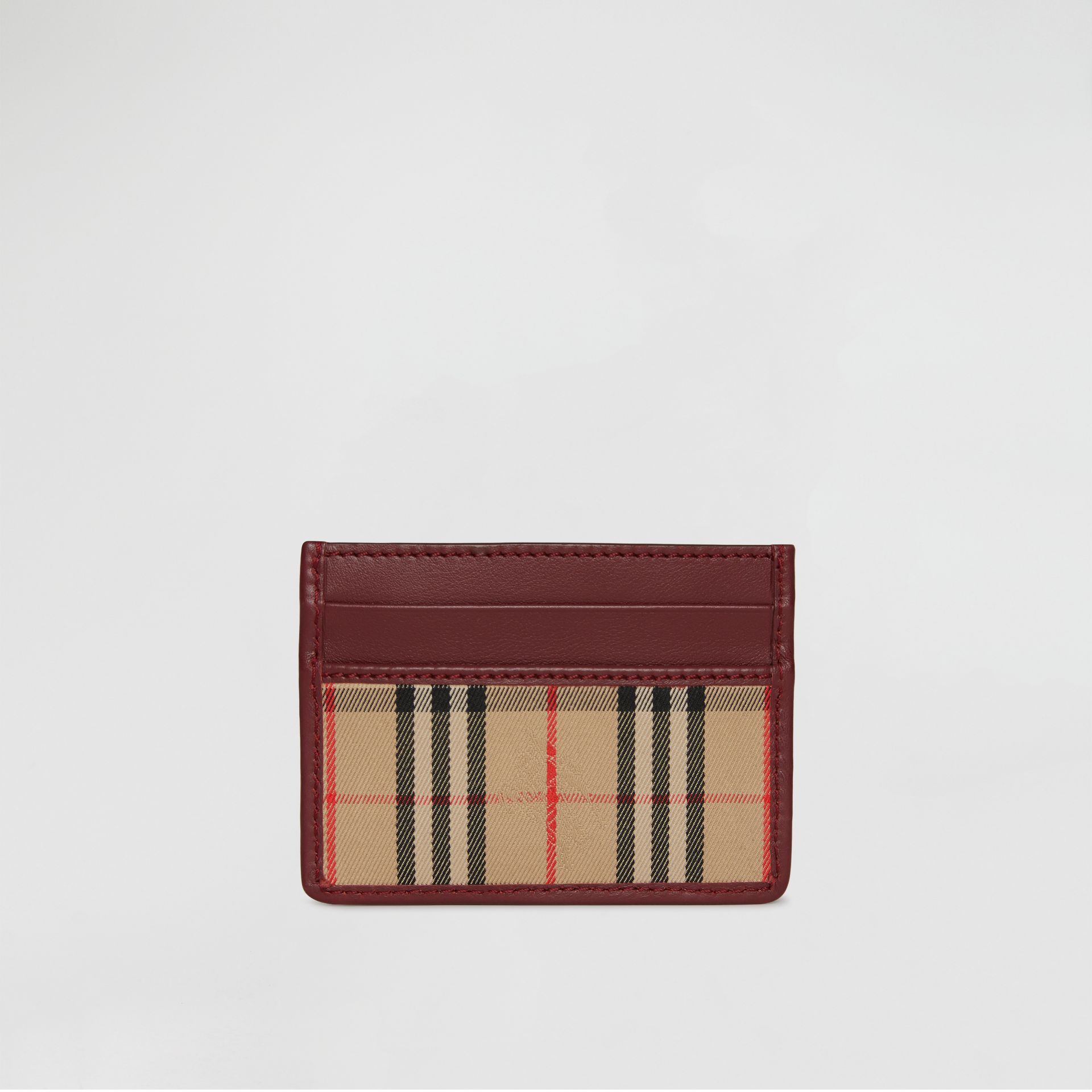 1983 Check and Leather Card Case in Antique Red | Burberry - gallery image 5
