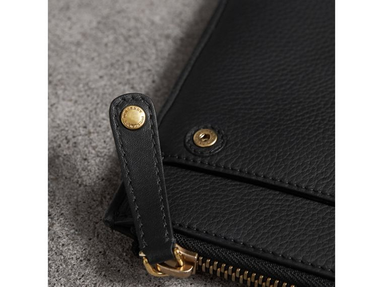 Embossed Leather Document Case in Black - Men | Burberry - cell image 1
