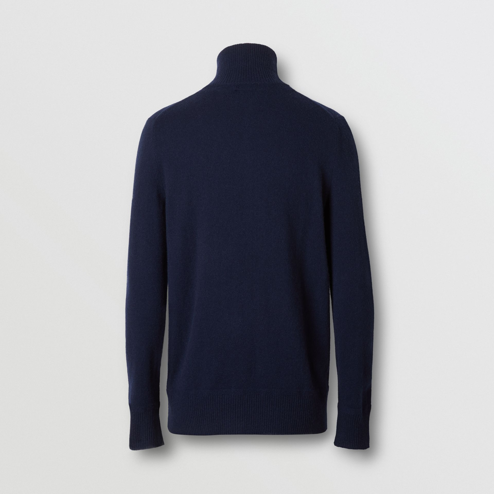 Monogram Motif Cashmere Funnel Neck Sweater in Navy - Men | Burberry Hong Kong S.A.R - gallery image 5