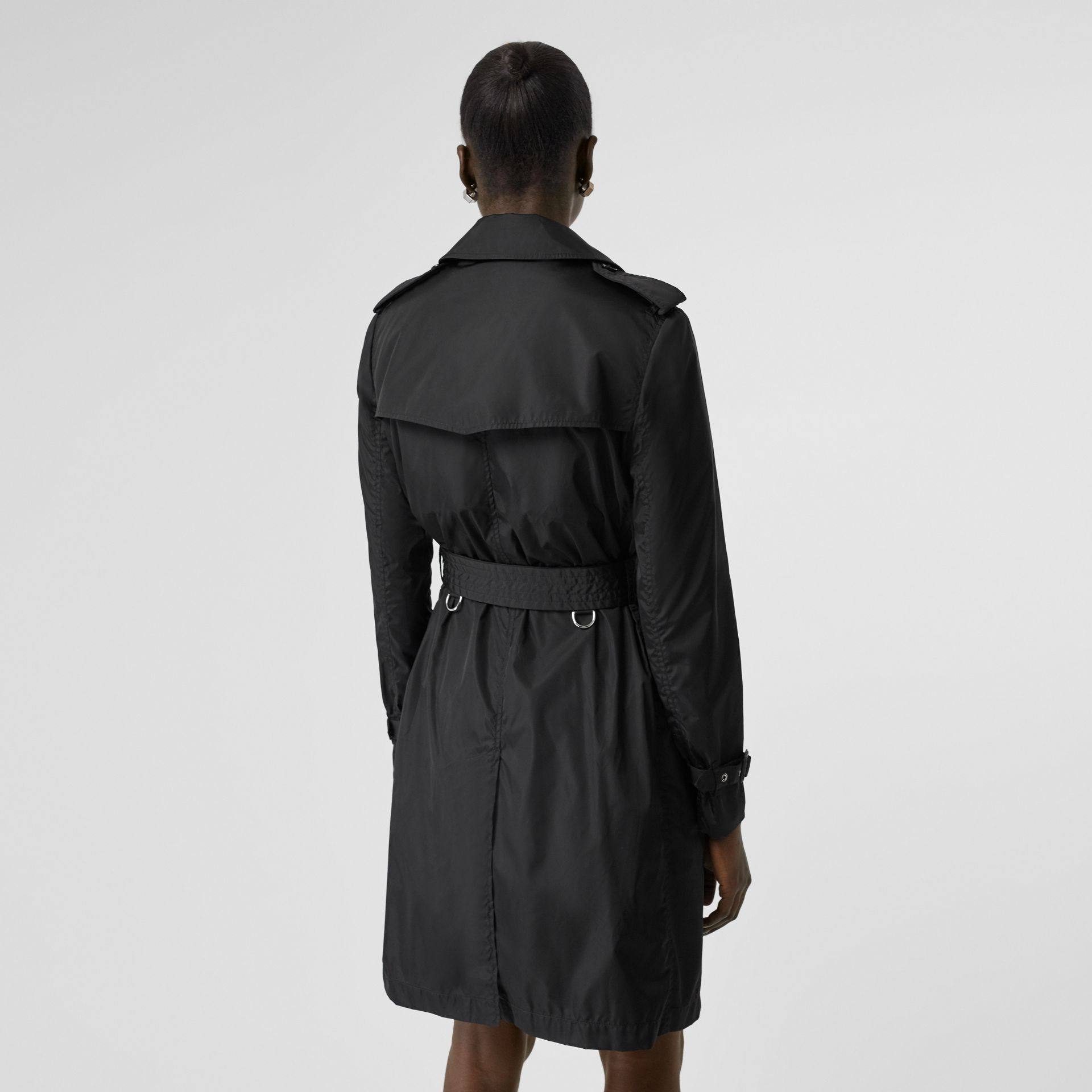 Detachable Hood ECONYL® Trench Coat in Black - Women | Burberry - gallery image 2