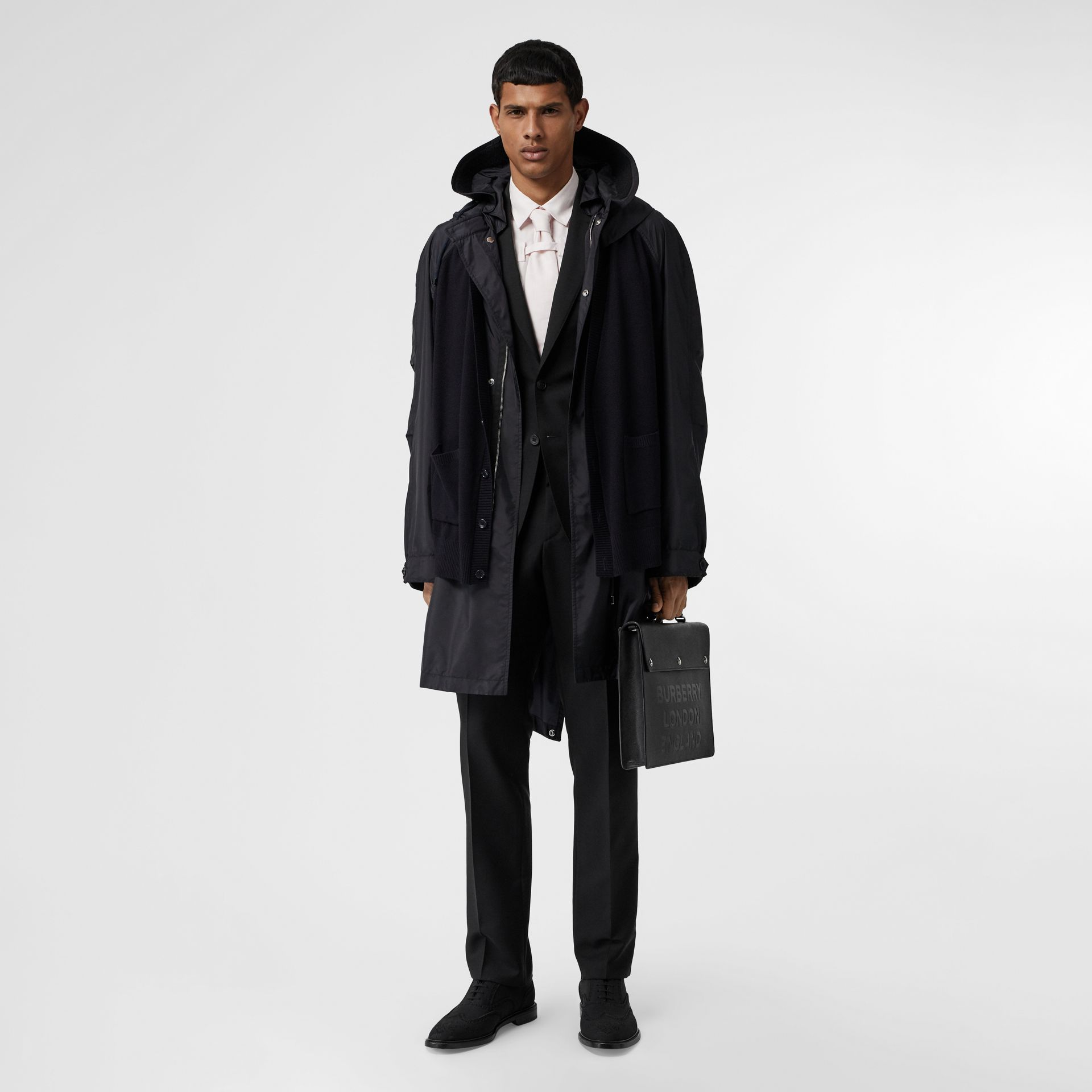 Slim Fit Wool Mohair Suit in Black - Men | Burberry Canada - gallery image 9