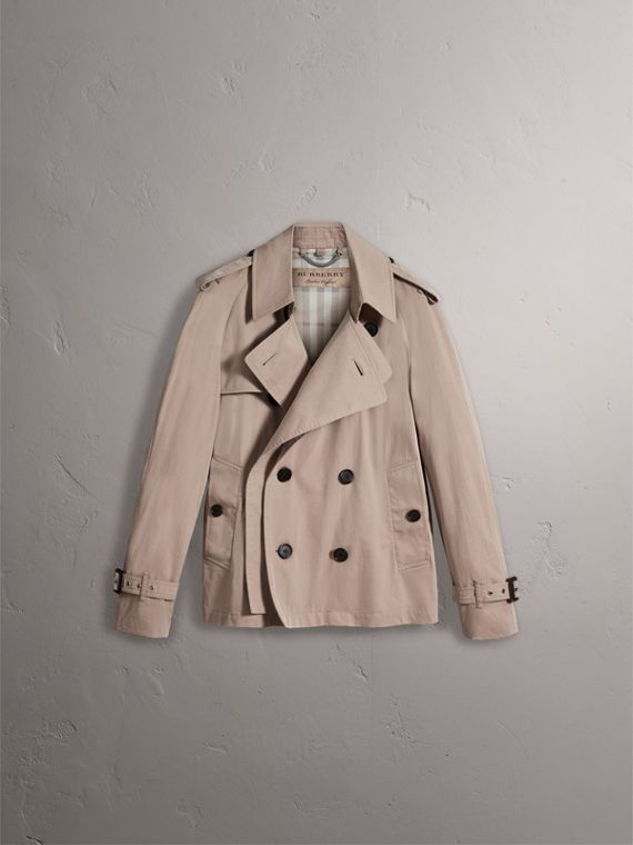 Unisex Tropical Gabardine Trench Jacket in Light Taupe - Women | Burberry - cell image 3