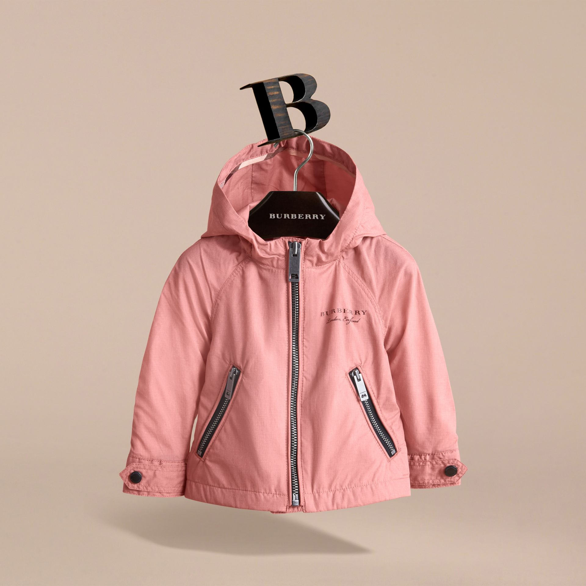 Showerproof Hooded Jacket Rose Pink - gallery image 3