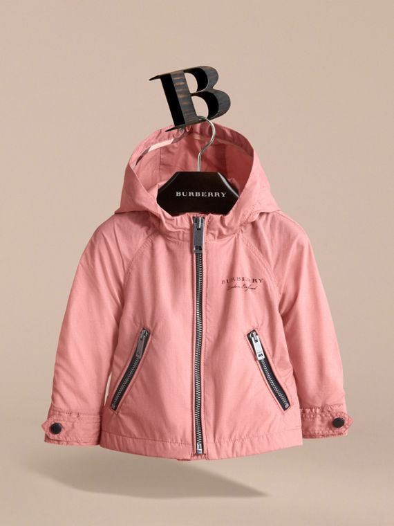Showerproof Hooded Jacket in Rose Pink | Burberry - cell image 2