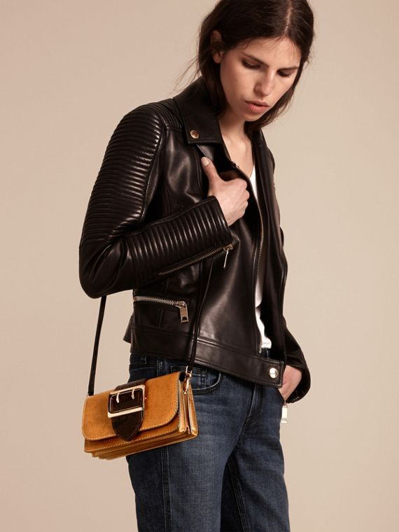 Tan / black The Small Buckle Bag in Grainy Leather - cell image 2