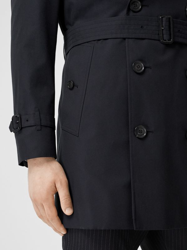 Cotton Gabardine Trench Coat in Midnight Navy - Men | Burberry Australia - cell image 3