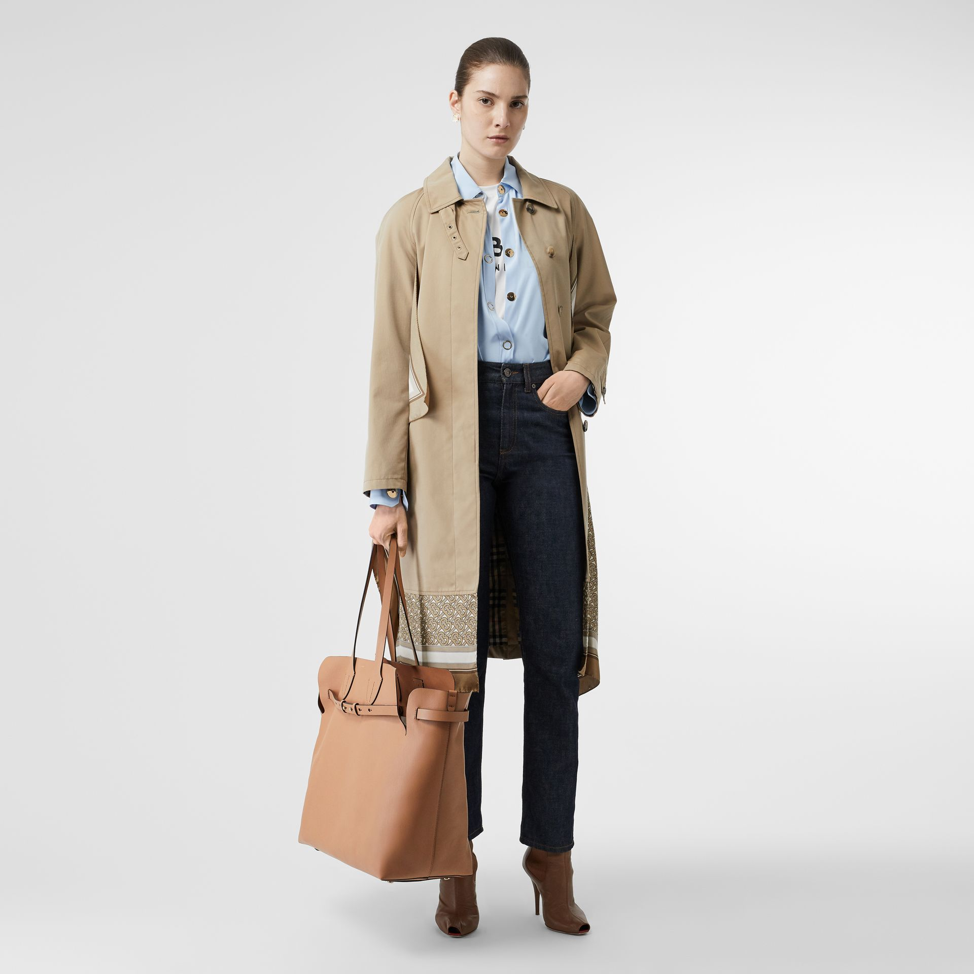 The Large Soft Leather Belt Bag in Light Camel - Women | Burberry - gallery image 5