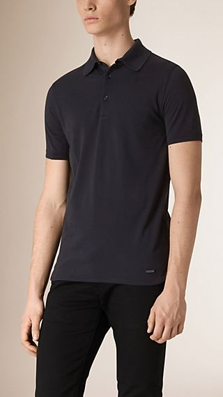 Silk Cotton Polo Shirt
