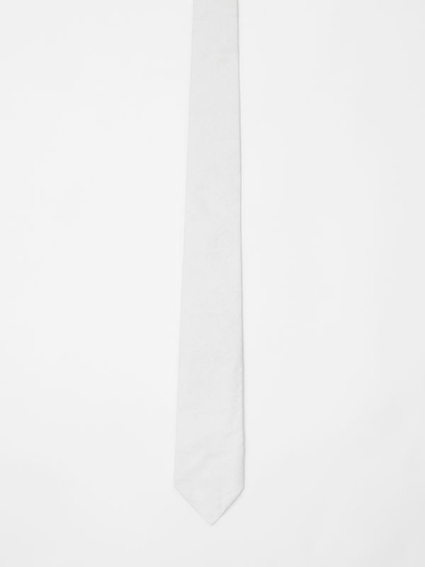 Classic Cut Monogram Silk Jacquard Tie in White - Men | Burberry United States - cell image 3