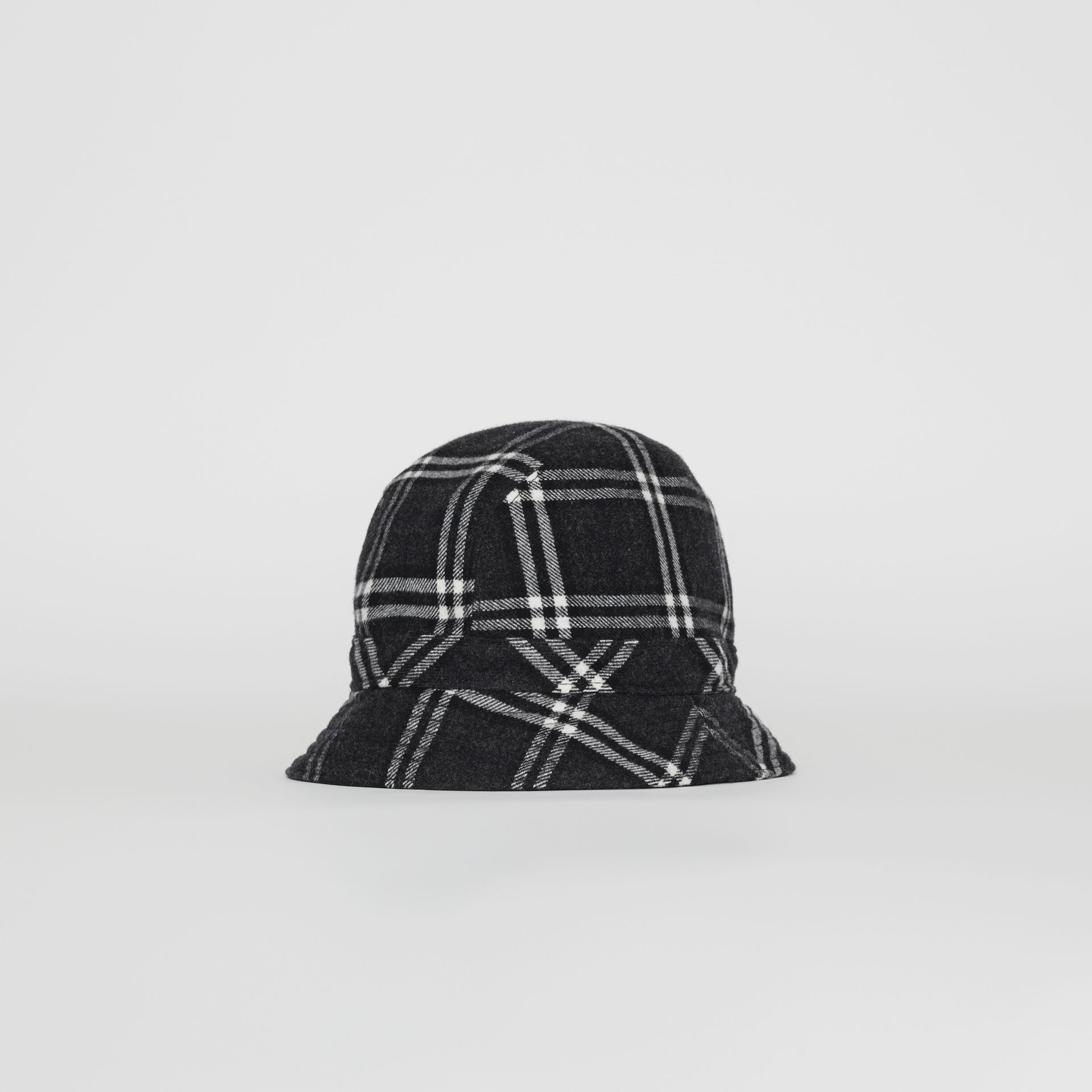 Gosha x Burberry Check Flannel Bucket Hat in Charcoal | Burberry - gallery image 0