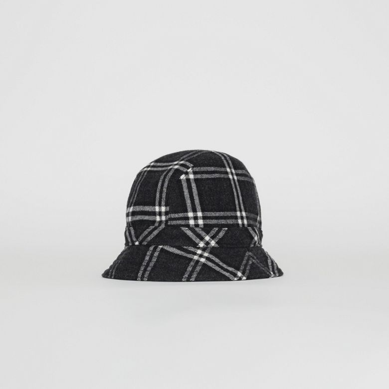 Burberry - Gosha x Burberry Check Flannel Bucket Hat - 1