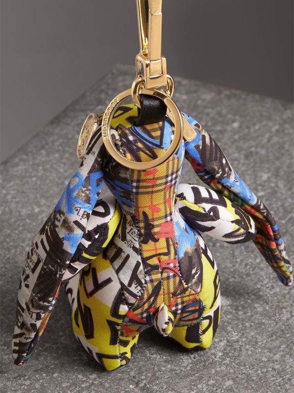 Vera The Hare Graffiti Print Cotton Charm in Yellow | Burberry - cell image 3