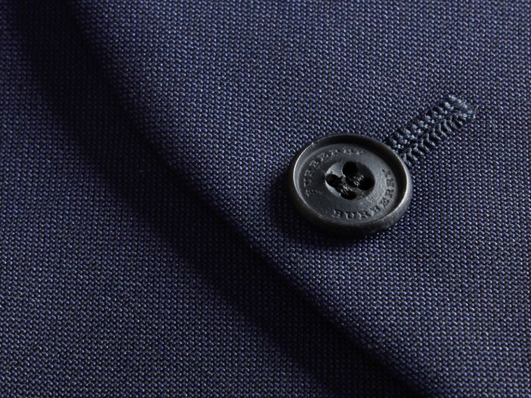 Modern Fit Wool Mohair Tailored Waistcoat in Navy - Men | Burberry - cell image 1