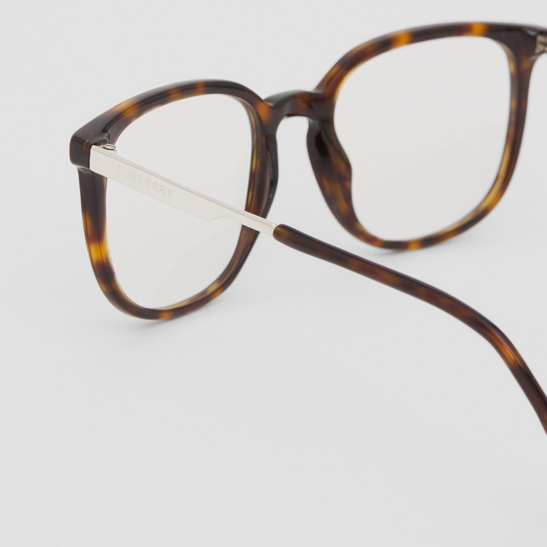 Square Optical Frames in Tortoiseshell | Burberry - gallery image 1