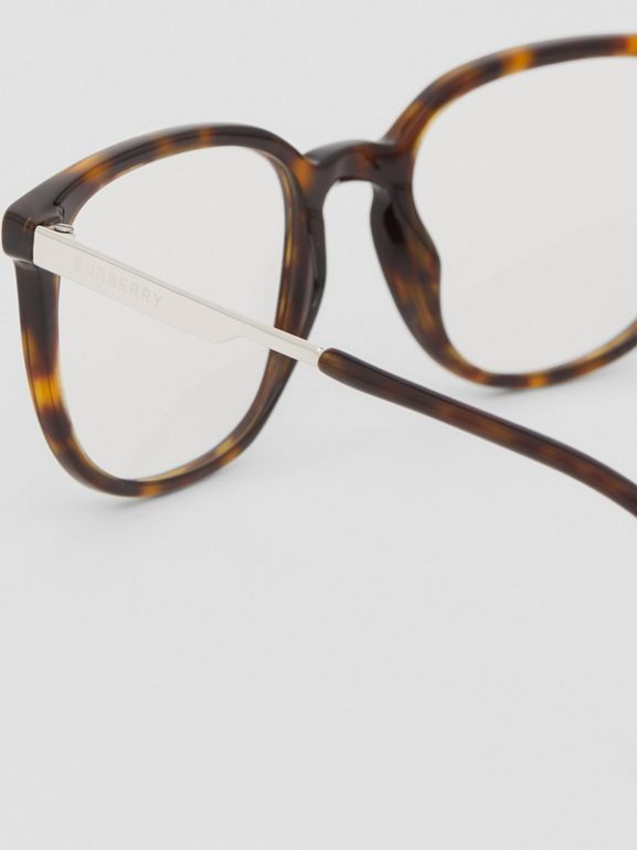Square Optical Frames in Tortoiseshell | Burberry - cell image 1