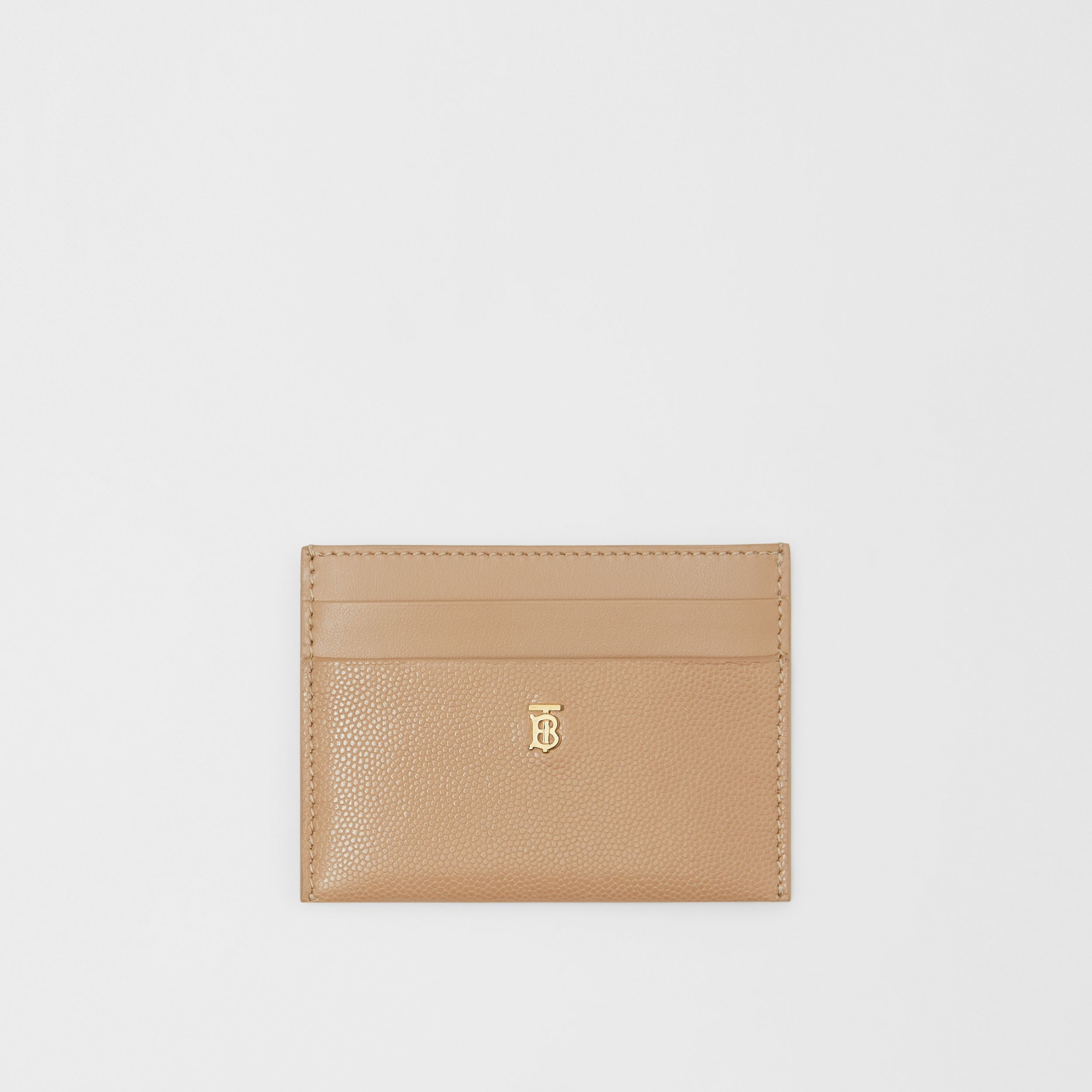 Monogram Motif Leather Card Case in Archive Beige - Women | Burberry - 1