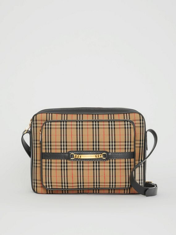 The Large 1983 Check Link Camera Bag in Black