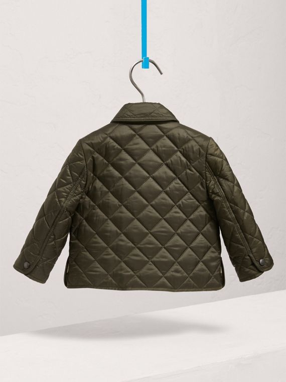 Lightweight Quilted Jacket in Olive | Burberry - cell image 3