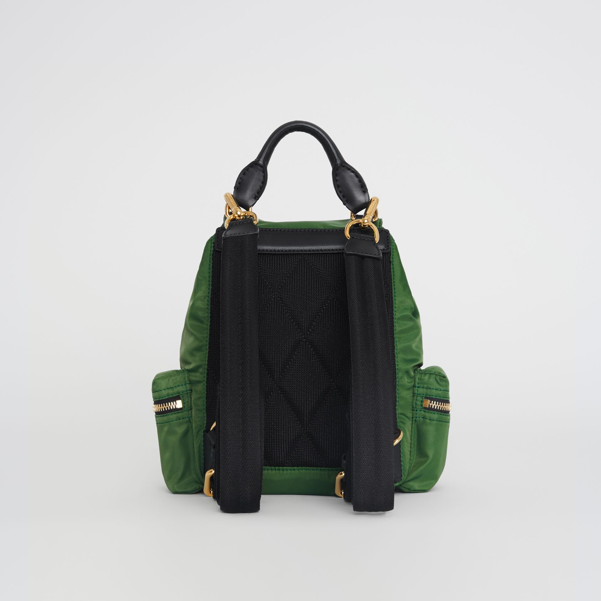 The Small Crossbody Rucksack in Nylon in Racing Green - Women | Burberry - gallery image 8