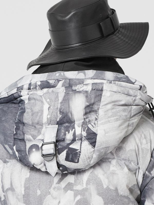 Doudoune à imprimé Rave (Monochrome) - Homme | Burberry - cell image 3