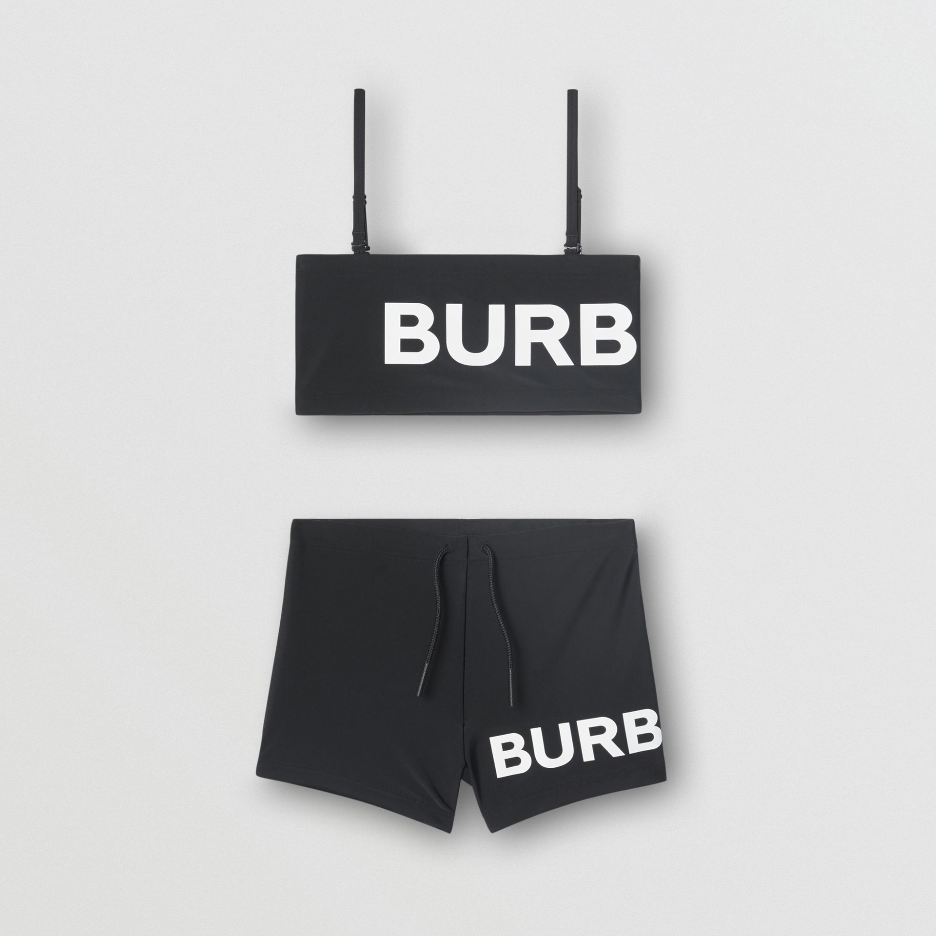 Logo Print Bikini in Black | Burberry United Kingdom - gallery image 0