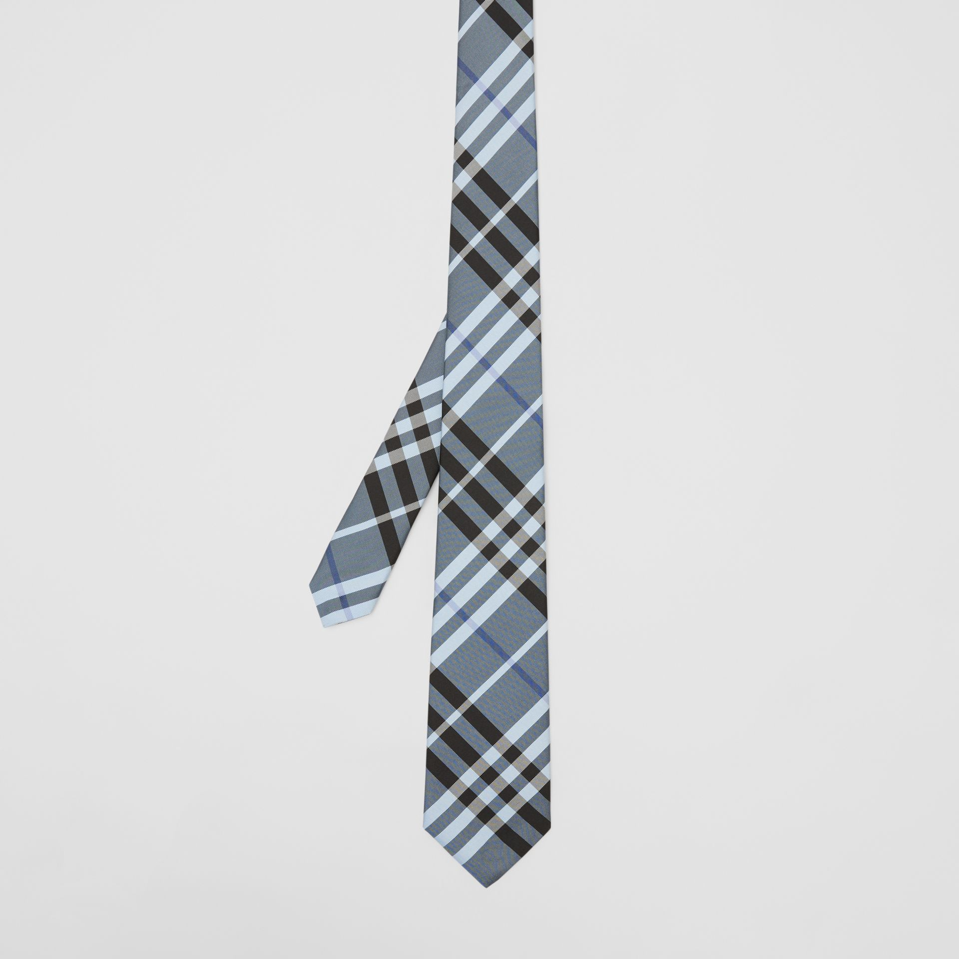 Classic Cut Vintage Check Silk Tie in Light Steel Blue - Men | Burberry - gallery image 4