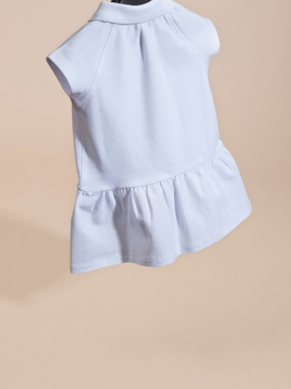 White Stretch Cotton Piqué Dress - cell image 3