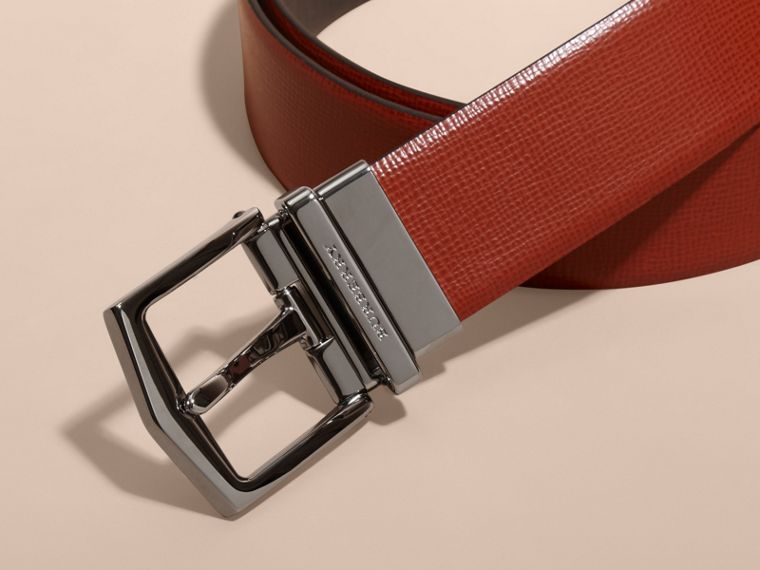 Burnt sienna/black Reversible London Leather Belt Burnt Sienna/black - cell image 1