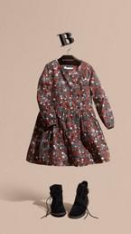 Frill Detail Floral Print Dress