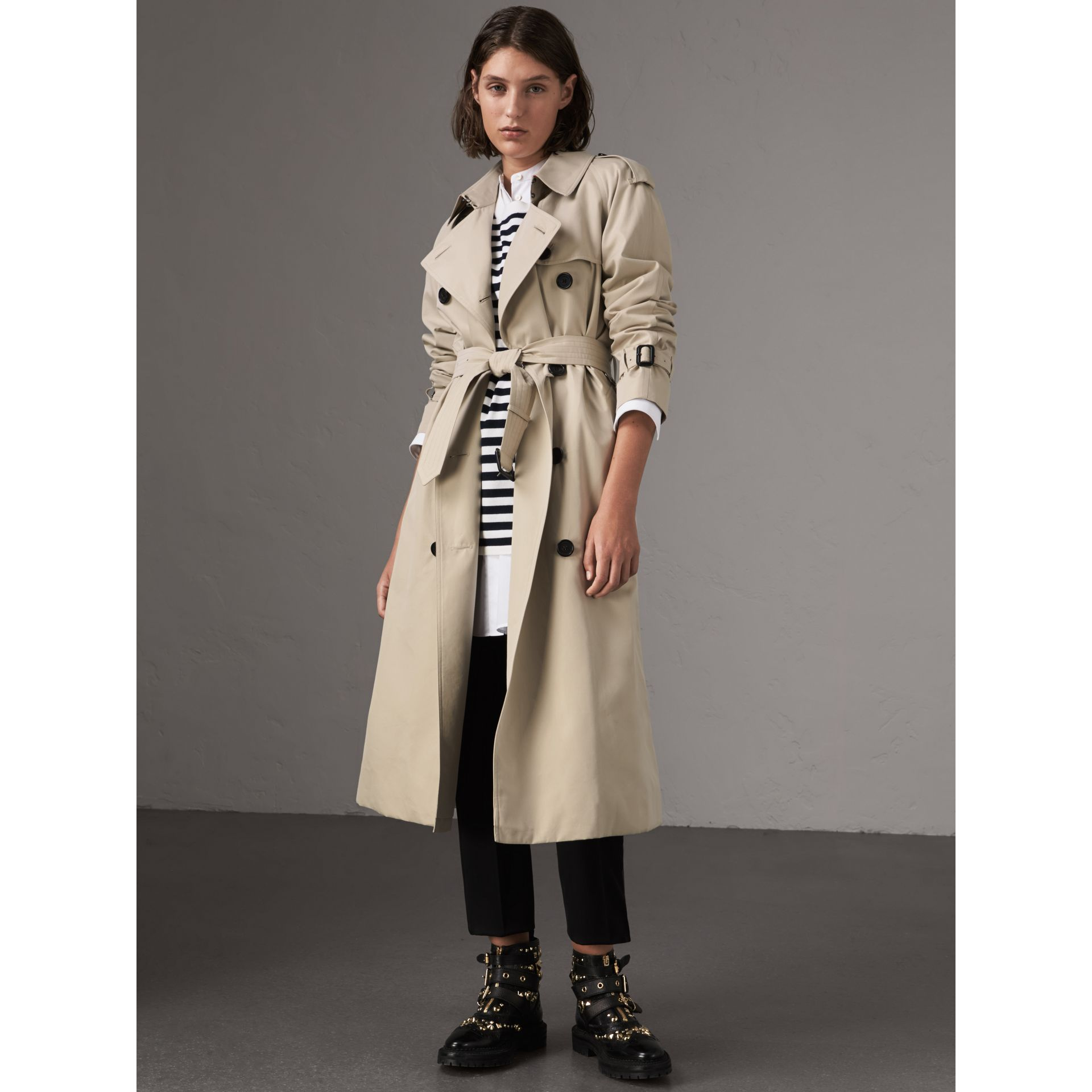The Westminster – Extra-long Trench Coat in Stone - Women | Burberry - gallery image 7